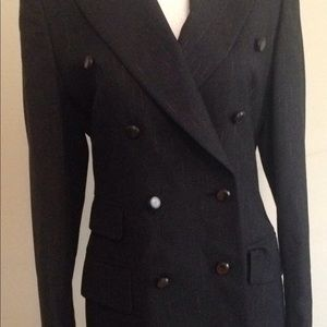 Escada Jackets & Coats - Escada blazer black / size 34 (4) gold pinstripe